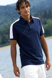 Picture of KARIBAN SAILING BI-COLOUR PIQUE POLO SHIRT