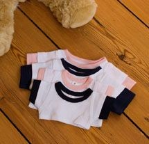 Picture of MUMBLES SOFT TOY TEDDY LAYERED TEE SHIRT