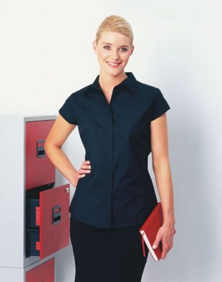 Picture of PREMIER LADIES CAP SLEEVE POPLIN BLOUSE
