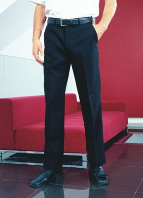 Picture of PREMIER FLAT FRONTED POLYESTER, WOOL TROUSERS
