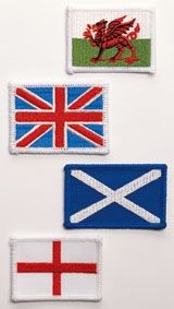 Picture of EMBROIDERED FLAG BADGE