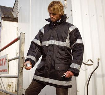 Picture of RESULT WORKGUARD MANAGEMENT COAT in Navy Blue