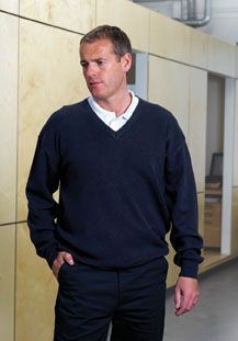 Picture of RTY WOOL & ACRYLIC V NECK JUMPER