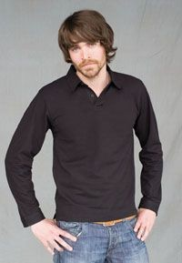 Picture of SKINNI FIT MEN LONG SLEEVE MODERN STRETCH PIQUE POLO SHIRT