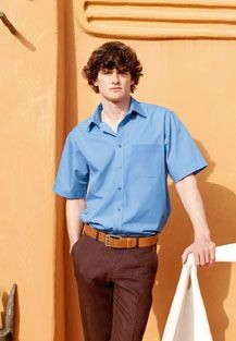 Picture of FRUIT OF THE LOOM SHORT SLEEVE POPLIN SHIRT