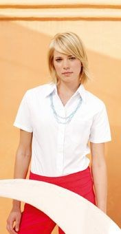 Picture of FRUIT OF THE LOOM LADIES SHORT SLEEVE POPLIN SHIRT