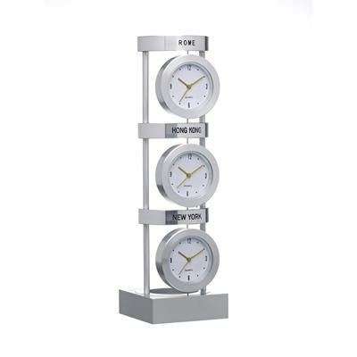 Picture of 3 CITY CLOCK in Silver