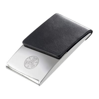 Picture of PARIS BUSINESS CARD HOLDER in Black & Silver