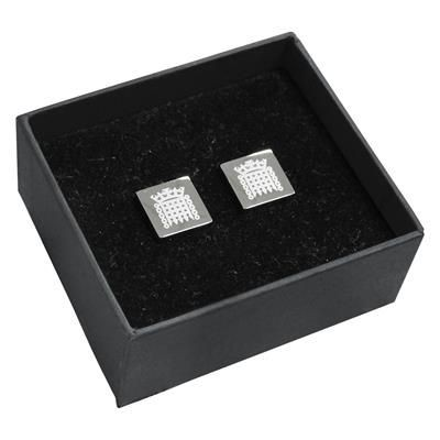 Picture of PLAZA SQUARE NICKEL PLATED METAL CUFF LINKS