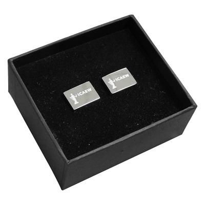 Picture of ASPEN CUFF LINKS SET in Silver