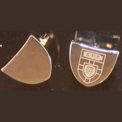 Picture of HASTINGS SHIELD SHAPE NICKEL PLATED METAL CUFF LINKS