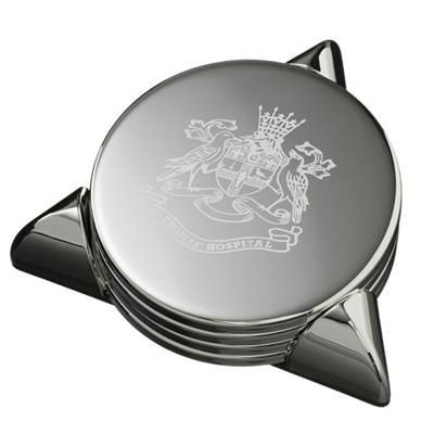 Picture of STAFFORD SILVER METAL COASTER SET