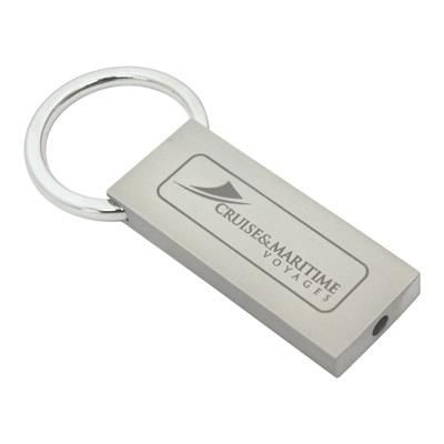 Picture of LARGE PADLOCK KEYRING in Silver Metal