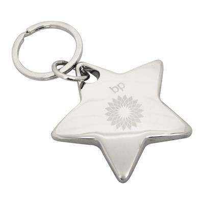 Picture of STAR METAL KEYRING in Silver