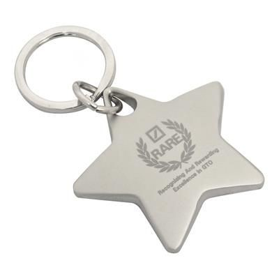 Picture of STAR METAL KEYRING in Matt Silver Finish