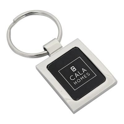 Picture of DEVON METAL KEYRING in Silver & Black
