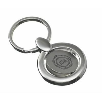 Picture of RAPALO ROUND SPINNING KEYRING in Silver Metal