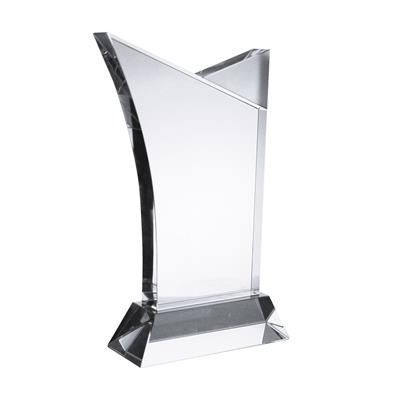 MEDIUM SUFFOLK CRYSTAL AWARD in Clear Transparent