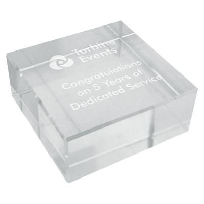 Picture of CRYSTAL CUBE BLOCK PAPERWEIGHT