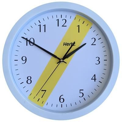 Picture of ROUND PLASTIC WALL CLOCK in White