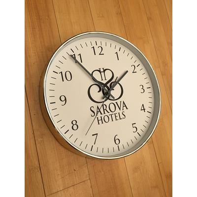 Picture of SILVER CHROME PLASTIC WALL CLOCK