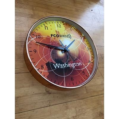 Picture of COPPER EFFECT PLASTIC WALL CLOCK