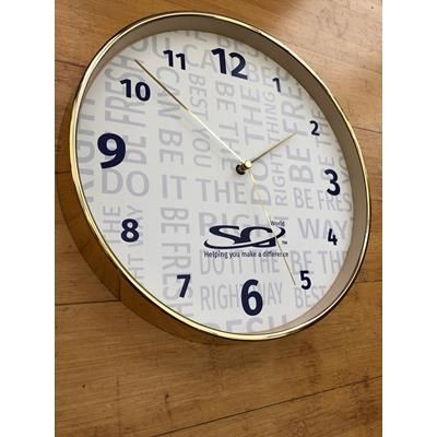 Picture of BRASS EFFECT PLASTIC WALL CLOCK