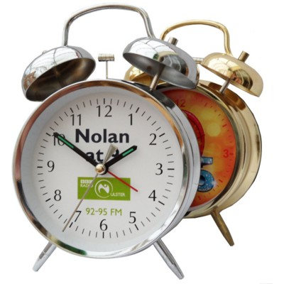 Picture of METAL DOUBLE BELL ALARM DESK CLOCK