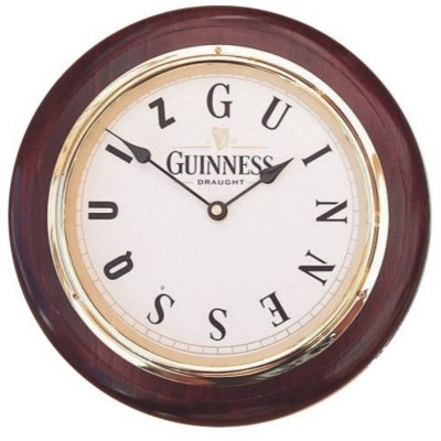Picture of ROUND WOOD WALL CLOCK in Mahogany