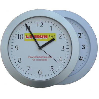 Picture of ROUND PLASTIC WALL CLOCK with Radio Controlled Feature
