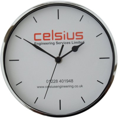 Picture of METAL CHROME WALL CLOCK
