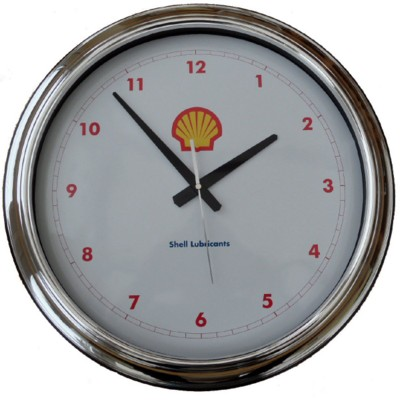 Picture of SILVER CHROME ROUND PLASTIC WALL CLOCK