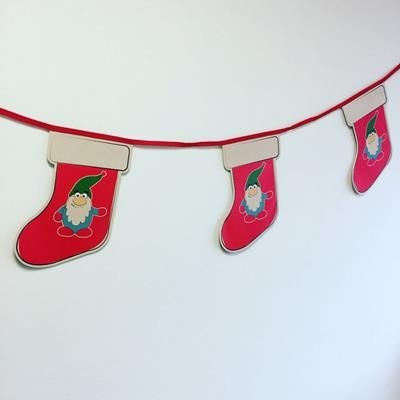 Picture of CHRISTMAS STOCKING CUSTOM PRINTED BUNTING
