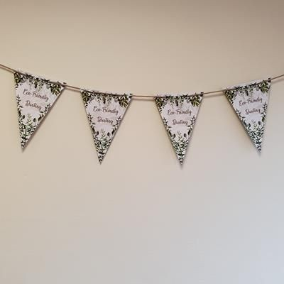Picture of A5 ECO FRIENDLY PAPER BUNTING ON NATURAL WOOL WEBBING