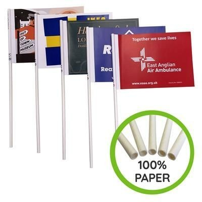 Picture of ECO FRIENDLY HAND WAVING PAPER FLAG