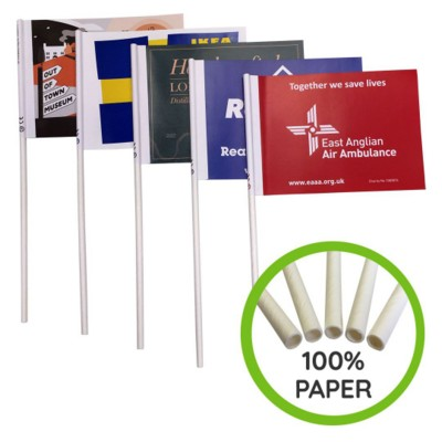 Picture of ECO FRIENDLY PAPER HAND WAVING FLAG