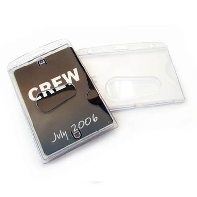 Picture of CLOSED FACE RIGID CARD HOLDER in Translucent Clear Transparent