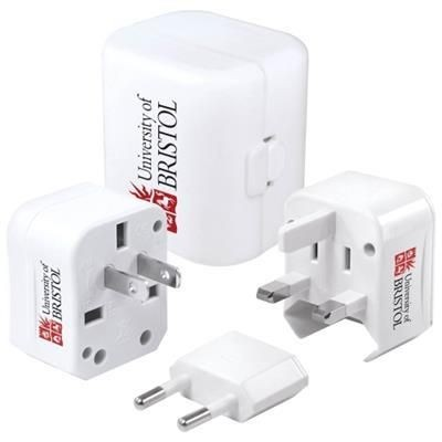 Picture of WORLDWIDE TRAVEL ADAPTER in White