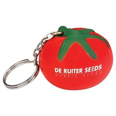 Picture of STRESS TOMATO KEYRING in Red