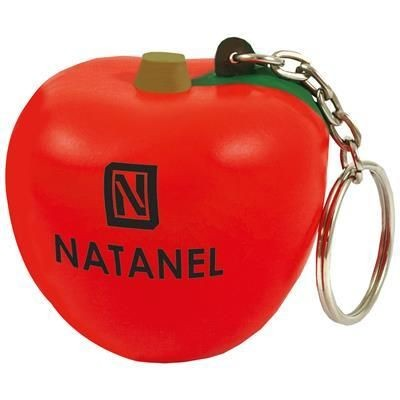 Picture of STRESS APPLE KEYRING in Red