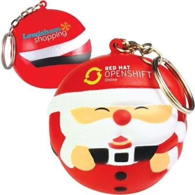 Picture of STRESS FATHER CHRISTMAS SANTA KEYRING