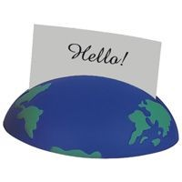 Picture of GLOBE MEMO NOTE STAND in Blue & Green