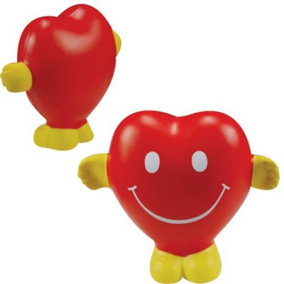 Picture of STRESS HEART with Hands & Feet in Red & Yellow