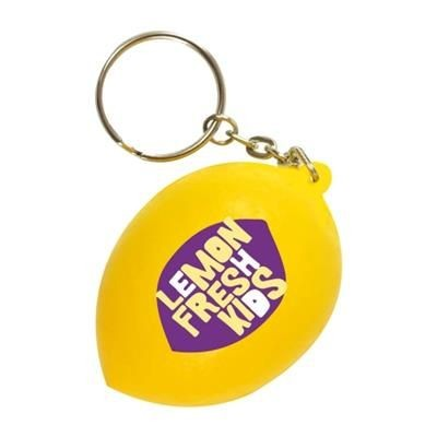 Picture of STRESS LEMON KEYRING in Yellow
