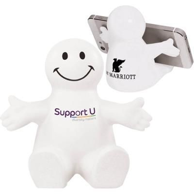 Picture of STRESS SMILEY MOBILE PHONE HOLDER - WHITE