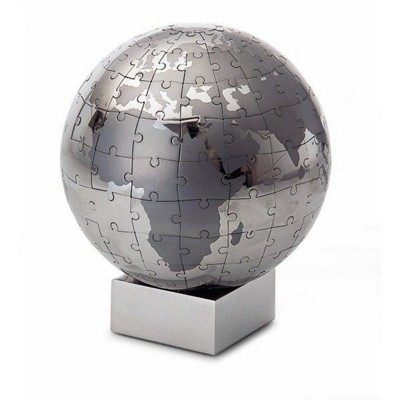 Picture of PHILIPPI EXTRAVAGANZA PUZZLE GLOBE in Silver