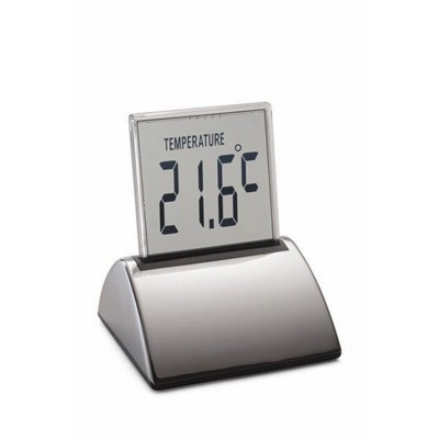 Picture of PHILIPPI TOUCH DIGITAL EXECUTIVE MULTIFUNCTION DESK CLOCK in Silver Finish