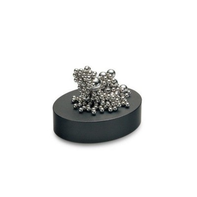 Picture of PHILIPPI MALO EXECUTIVE TOY MAGNETIC DESK PUZZLE PAPERWEIGHT in Silver with Black Base