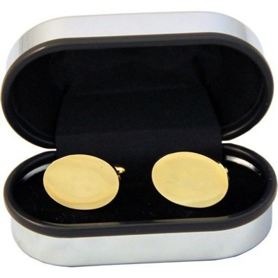 Picture of OVAL CUFF LINKS in Gold Finish