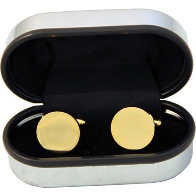 Picture of ROUND CUFF LINKS in Gold Finish